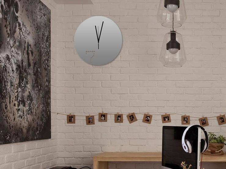 Kairos Dot at Seven Wall Clock:  Living room by Just For Clocks