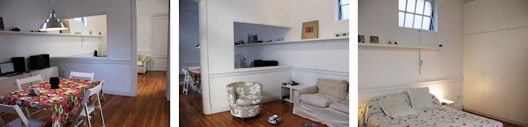 PH Aldea | Remodelación : Livings de estilo  por Paula Mariasch - Juana Grichener - Iris Grosserohde Arquitectura,
