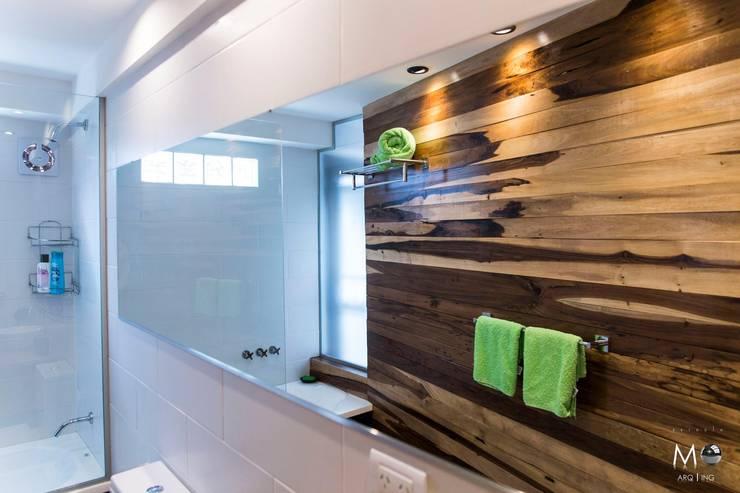 MONOAMBIENTE VF: Baños de estilo  por estudio  M,Moderno