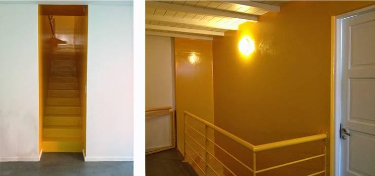 Casa Rosetti | Remodelación : Pasillos y recibidores de estilo  por Paula Mariasch - Juana Grichener - Iris Grosserohde Arquitectura