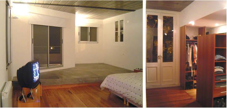 Casa en la vía: Dormitorios de estilo  por Paula Mariasch - Juana Grichener - Iris Grosserohde Arquitectura,