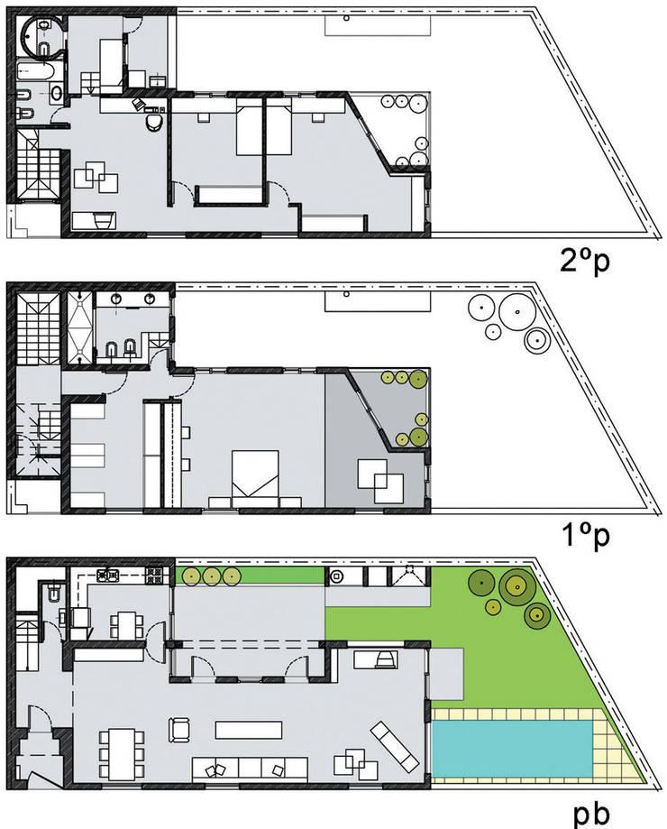 Casa en la vía: Casas de estilo  por Paula Mariasch - Juana Grichener - Iris Grosserohde Arquitectura,