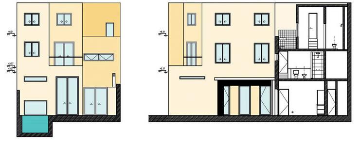 Casa en la vía: Casas unifamiliares de estilo  por Paula Mariasch - Juana Grichener - Iris Grosserohde Arquitectura,