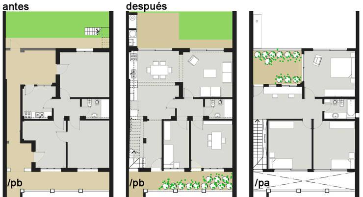 Ph casa: Casas unifamiliares de estilo  por Paula Mariasch - Juana Grichener - Iris Grosserohde Arquitectura,