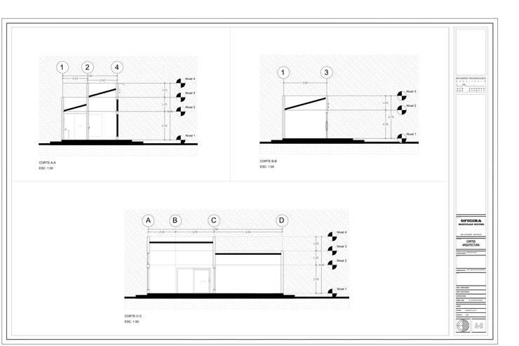 OFICINA COMERCIAL MODULAR HOUSE:  de estilo  por RR Arquitecto