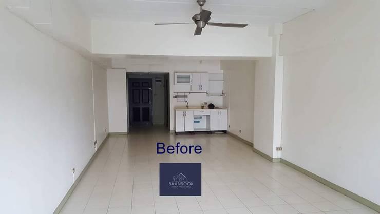แปลงโฉมห้องเก่า:  ตกแต่งภายใน by BAANSOOK Design & Living Co., Ltd.