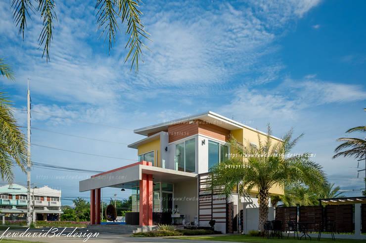 HOMEOFFICE 2ชั้น <q>แอท เมืองพลอย รีสอร์ท</q> อ.บ่อพลอย จ.กาญจนบุรี:   by fewdavid3d-design