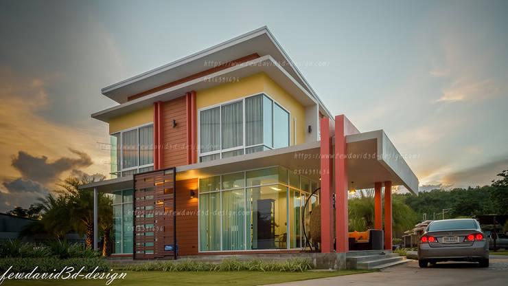 """HOMEOFFICE 2ชั้น """"แอท เมืองพลอย รีสอร์ท"""" อ.บ่อพลอย จ.กาญจนบุรี:   by fewdavid3d-design"""