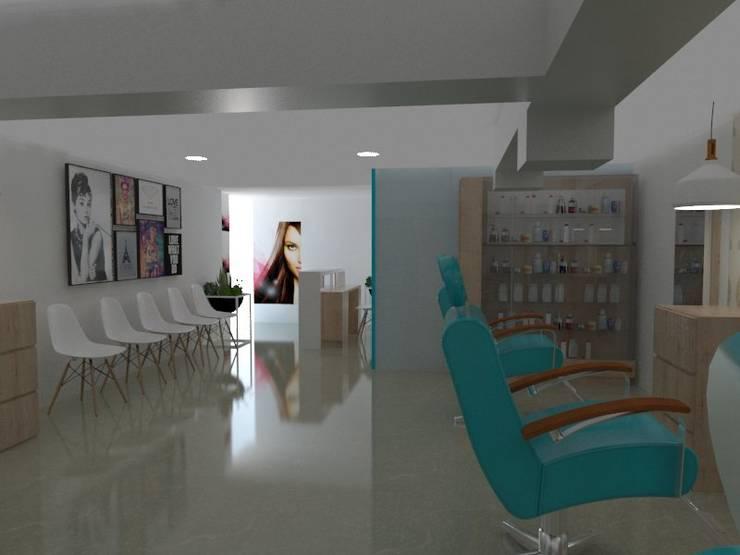 salon principal : Espacios comerciales de estilo  por Naromi  Design