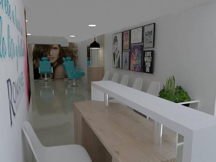 Recepción : Espacios comerciales de estilo  por Naromi  Design