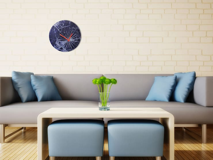 Nextime Crash Wall Clock: modern Living room by Just For Clocks