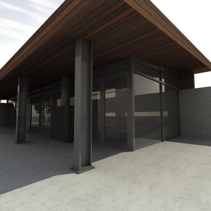 "CASA ""M"" Vista Interior: Chalets de estilo  por Dakota Austral"