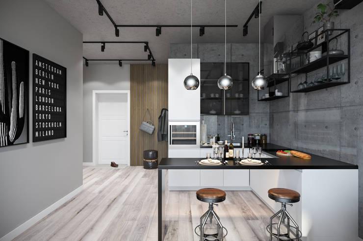 وحدات مطبخ تنفيذ Студия архитектуры и дизайна Дарьи Ельниковой