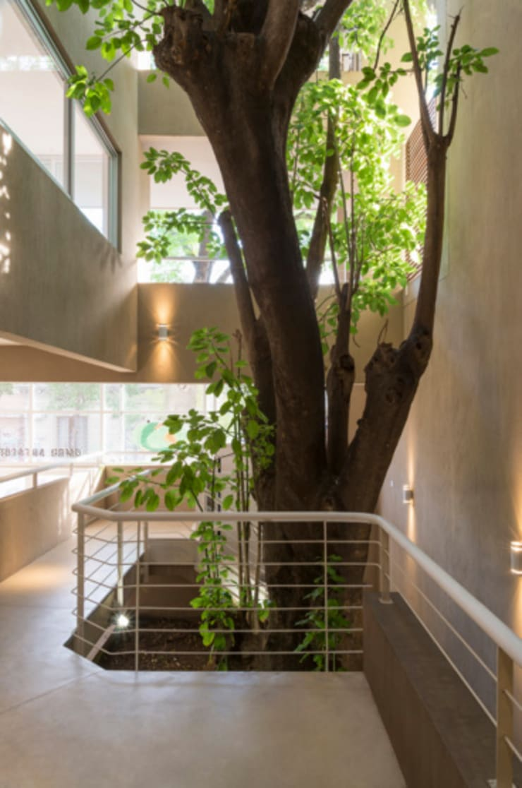 Edificio Arts e Lofts: Pasillos y recibidores de estilo  por Paula Mariasch - Juana Grichener - Iris Grosserohde Arquitectura,