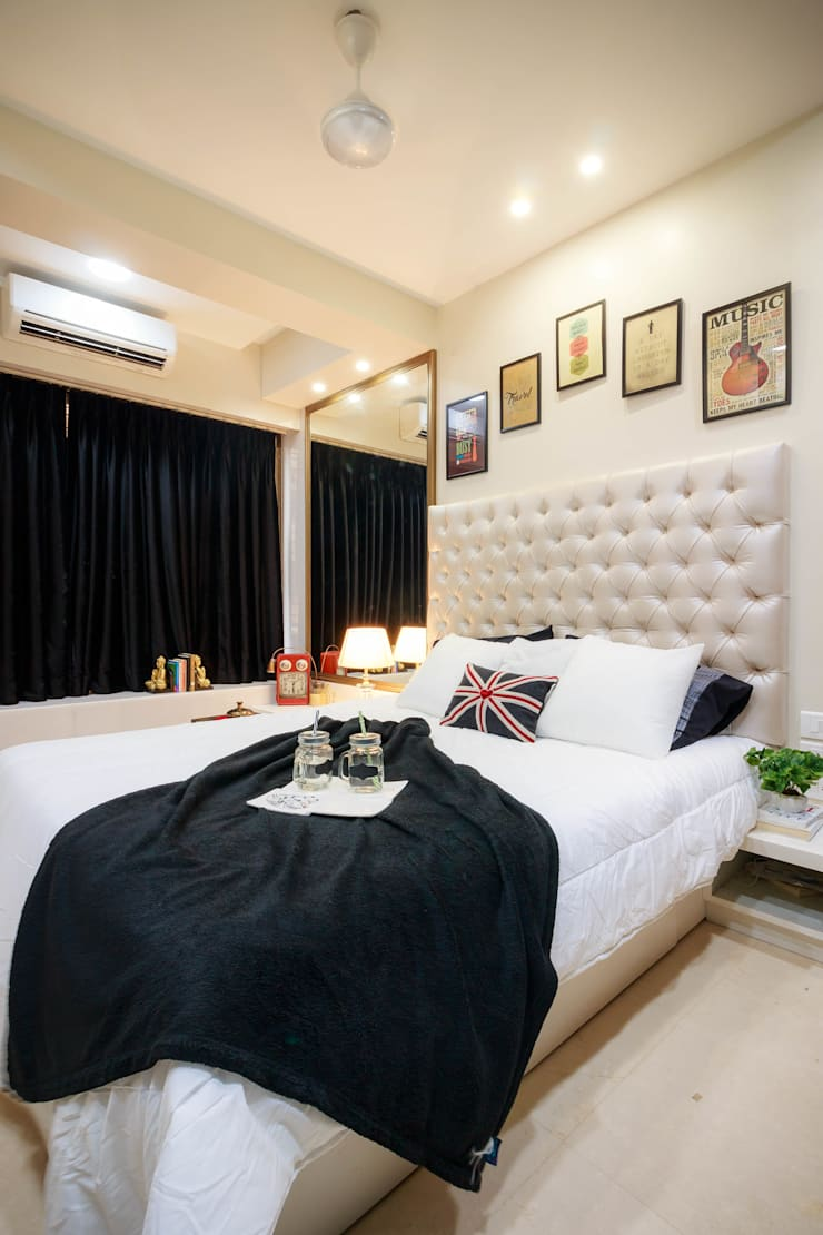 Bombay Central Residence:  Bedroom by Fourth Axis Designs