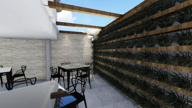 Salão de festas: Jardins de inverno modernos por Studio²