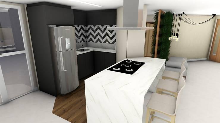 Cozinha Goumet: Armários e bancadas de cozinha  por Studio²