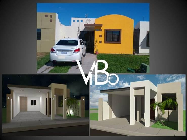 Cochera Casa Habitacion 1 nivel: Casas de estilo  por VIBO CONSTRUCTORA