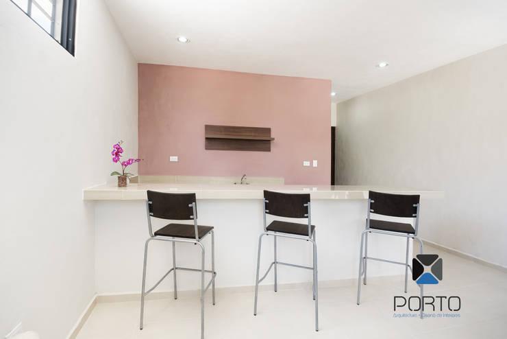 """""""PROYECTO BQZ37"""": Cocinas de estilo minimalista por PORTO Arquitectura + Diseño de Interiores"""