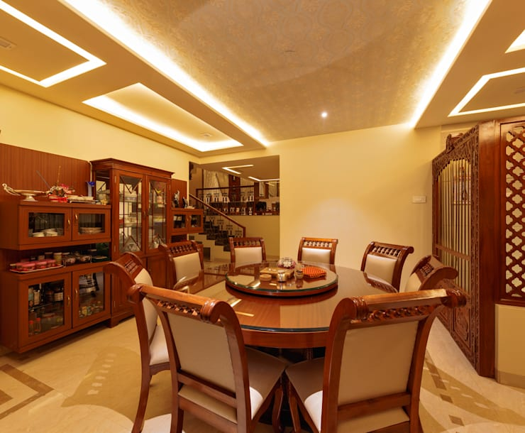 Dining Area:  Dining room by Spacecraftt Architects