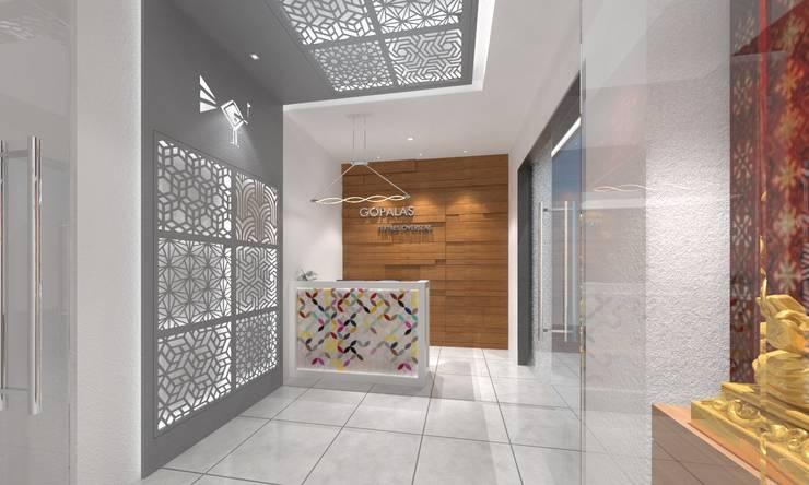 Reception:  Study/office by Ravi Prakash Architect