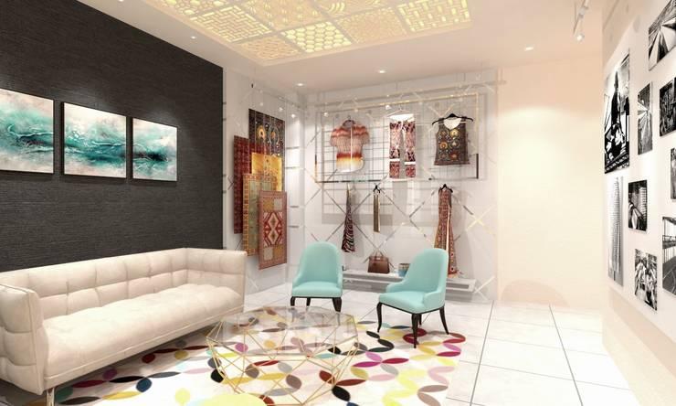 Waiting Lounge:  Study/office by Ravi Prakash Architect
