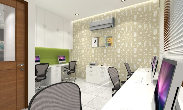 Workstation:  Study/office by Ravi Prakash Architect