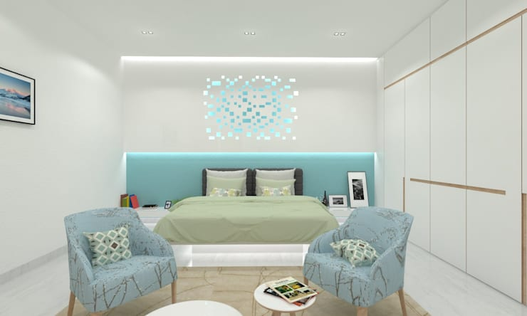 Master Bedroom: minimalistic Bedroom by Ravi Prakash Architect