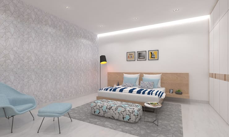 Son's Bedroom:  Bedroom by Ravi Prakash Architect