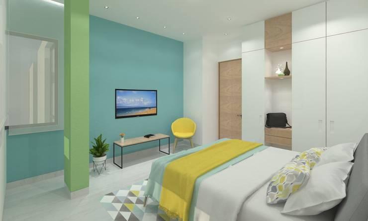 Guest Bedroom: minimalistic Bedroom by Ravi Prakash Architect