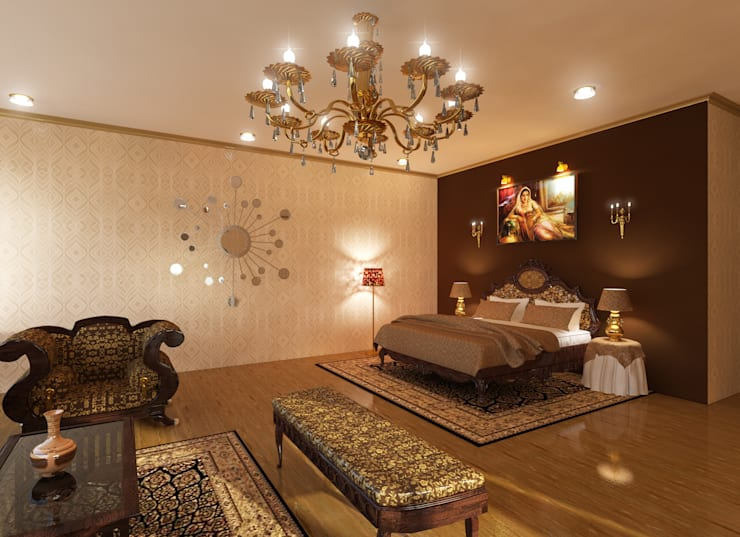 Deluxe Suite: classic Bedroom by Ravi Prakash Architect