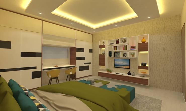غرفة نوم تنفيذ Ravi Prakash Architect
