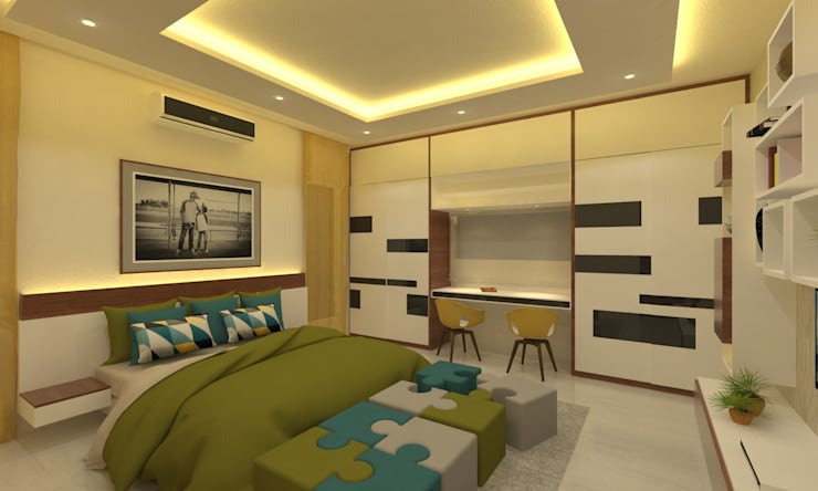Children's Bedroom:  Bedroom by Ravi Prakash Architect