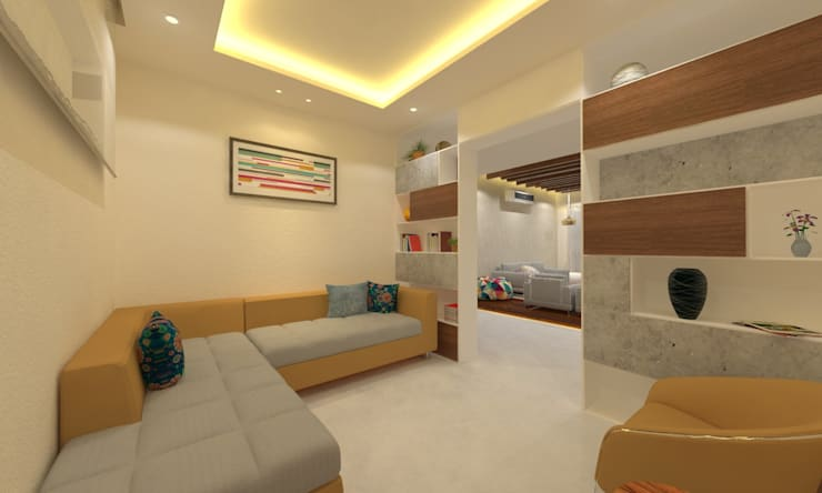 Drawing Room:  Corridor & hallway by Ravi Prakash Architect