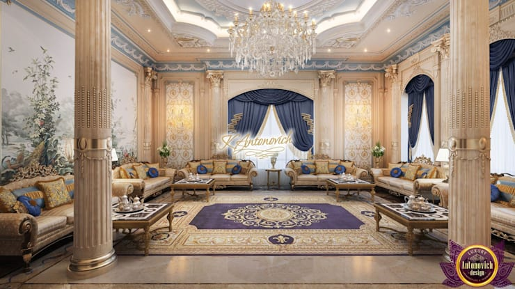 ​Fashionable and luxurious interiors of Katrina Antonovich:  Living room by Luxury Antonovich Design