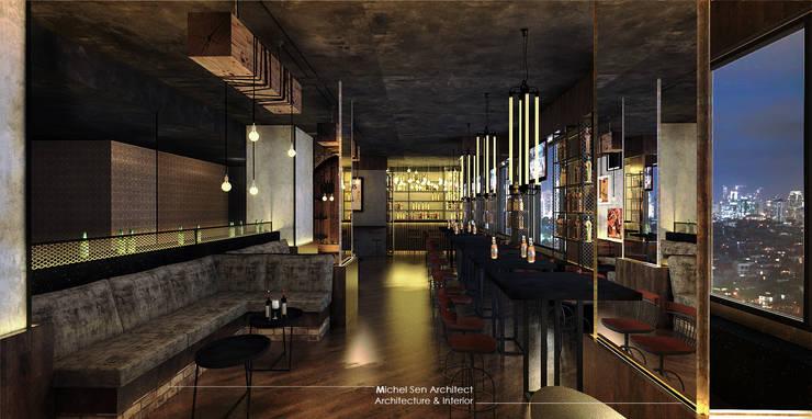 21STUDIO – Cafe & Bar Lounge @Golden Boutique Hotel:  Bar & Klub  by Michel Sen Architect