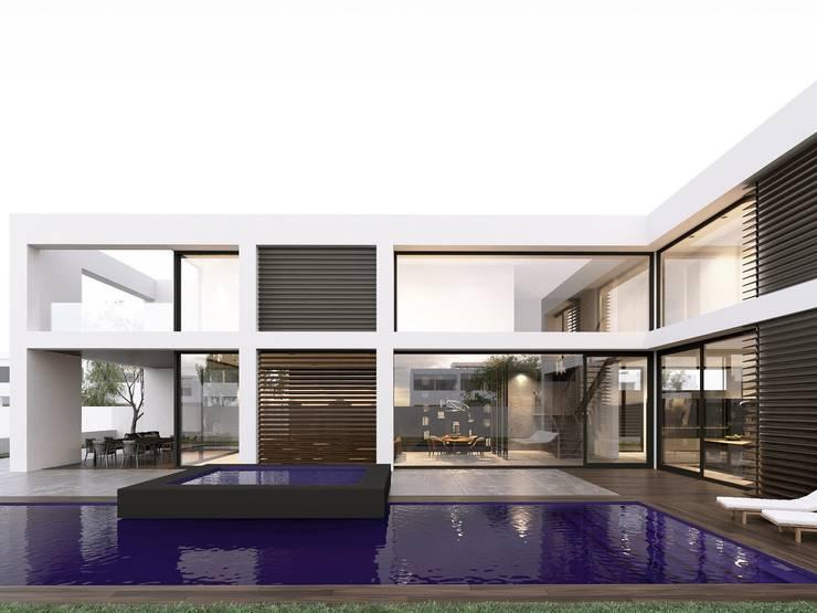 Минималистичная скульптура (Архитектура): Дома в . Автор – Архитектурное бюро Materia174