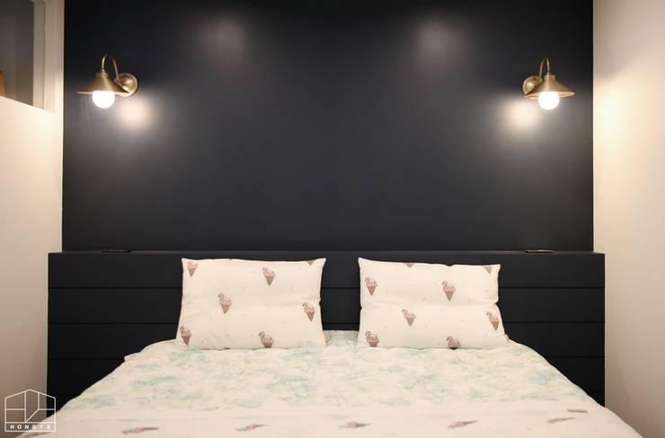 40평대 아파트 인테리어 모아보기: 홍예디자인의  침실,미니멀