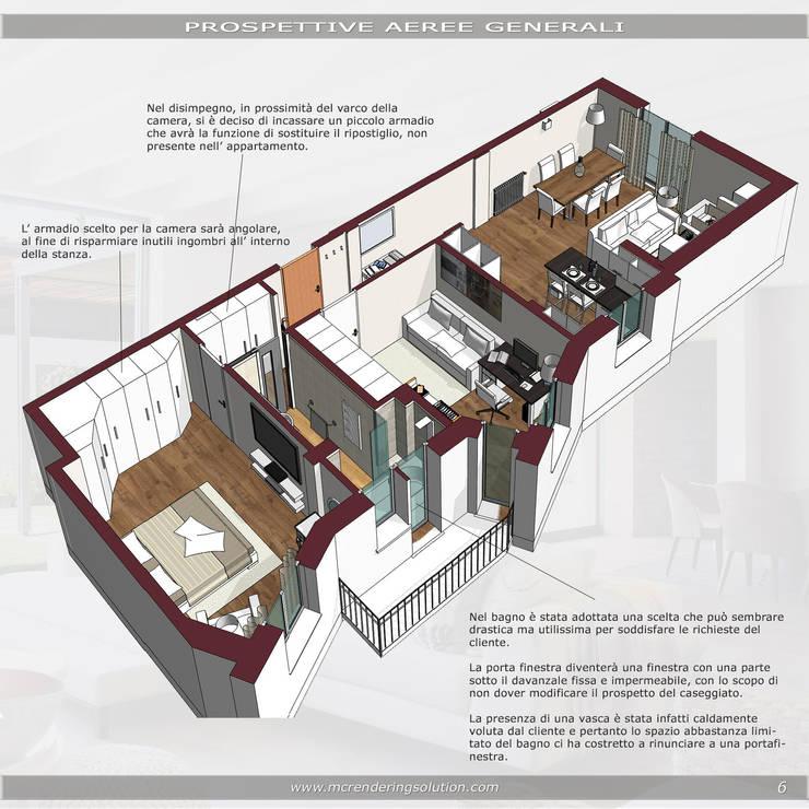 Open Space....avanti tutta: Camera da letto in stile  di MC Rendering Solution