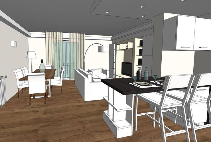 Open Space....avanti tutta: Cucina in stile  di MC Rendering Solution