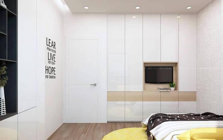 Thiết kế nội thất căn hộ chung cư nhà anh Phú – Masteri Thảo Điền:   by Nội Thất Hoàng Gia