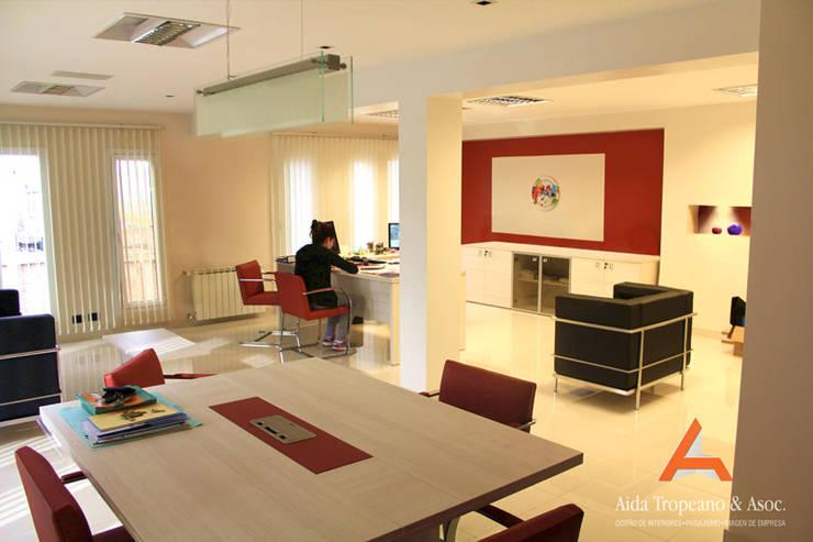 Oficina Empresa: Oficinas y locales comerciales de estilo  por Aida Tropeano & Asoc.,