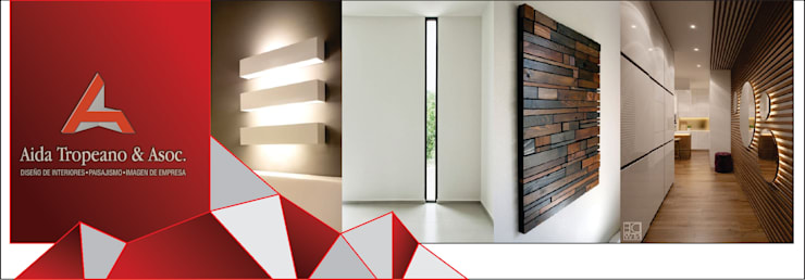 OFICINAS EMPRESA: Pasillos, vestíbulos y escaleras  de estilo  por Aida Tropeano & Asoc.,