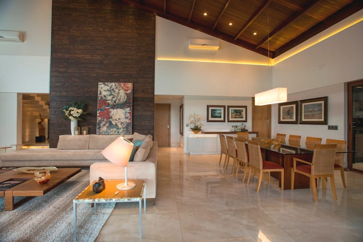 modern Dining room by Danielle Valente Arquitetura e Interiores