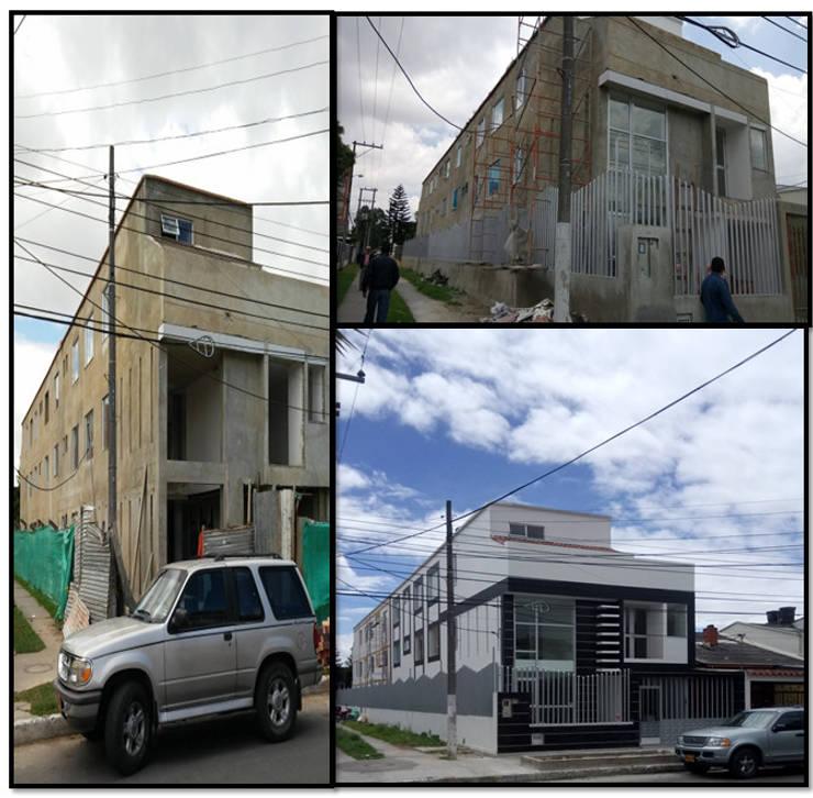 CASAS MODELIA.: Casas de estilo minimalista por CELIS & CELIS INGENIEROS CONSTRUCTORES S.A.S