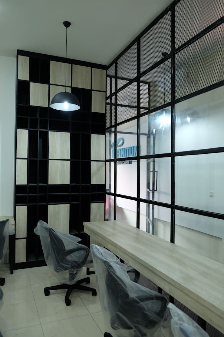 Industrial Office :  Office spaces & stores  by a+Plan Architect and Interior Works