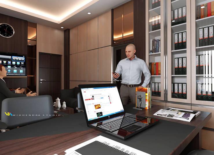 RENOVASI INTERIOR RUANG KABID KANTOR PERDAGANGAN INDONESIA:  Kantor & toko by Widhendra interior