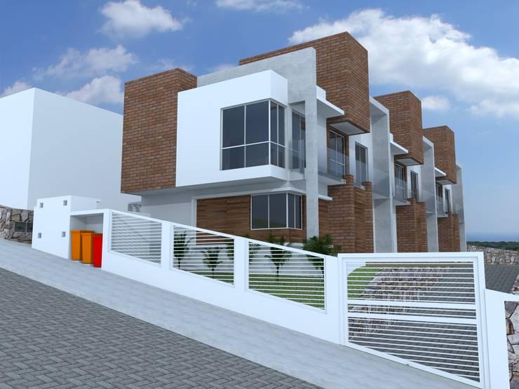 Casas Geminadas na Carvoeira: Casas geminadas  por Cadu Martins Arquiteto e Urbanista