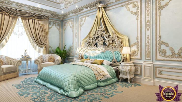 Luxury Master bedrom design of Katrina Antonovich:  Bedroom by Luxury Antonovich Design