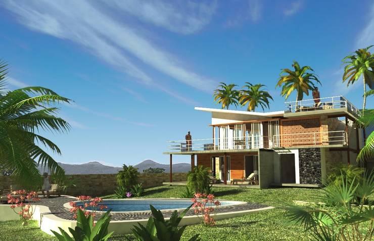 CASA EN EL CARIBE: Piscinas de jardín de estilo  por Proyectonica